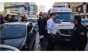 Ümraniye'de otomobil park halindeki araçlara daldı: Yaralılar var