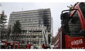 Devlet Su İşleri binasında yangın
