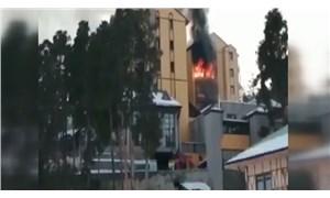 Sarıkamış'ta kayak merkezinde otel yangını