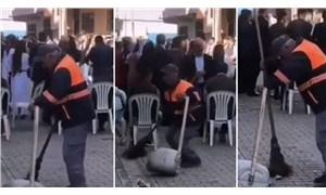 Temizlik görevlisinin dansı sosyal medyada viral oldu