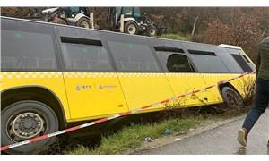 Çekmeköy'de İETT otobüsü yan yattı: 1 ölü, 13 yaralı