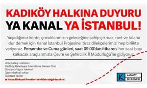 Kadıköy Belediyesi Kanal İstanbul Projesi'ne karşı harekete geçti