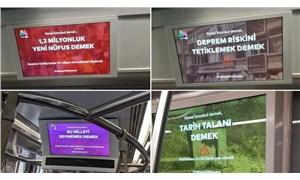 İBB'den toplu taşıma araçlarında Kanal İstanbul bilgilendirmeleri: Ya Kanal Ya İstanbul!