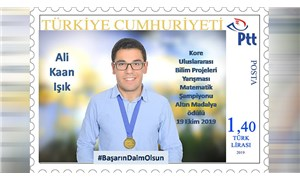 Uluslararası yarışmada matematik alanında şampiyon olan öğrenci için hatıra pulu