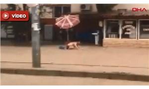 Mersin'de meydana gelen selde bir kişi leğenle yüzdü