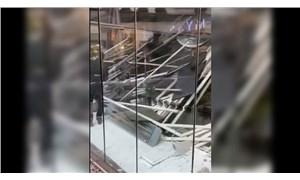 Zincirlikuyu'da bir AVM'de bulunan kafenin çatısı çöktü: 6 yaralı