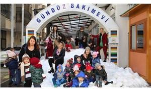 Adana'da miniklere karne tatili öncesi kar sürprizi