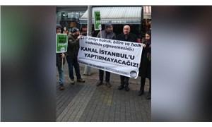 Ya kanal, ya İstanbul diyen yurttaşlar Sarıgazi'de insan zinciri oluşturdu