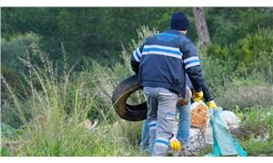 Doğaya atılan 65 ton atık toplandı