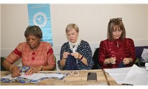 Letonya, Makedonya ve Kongo Büyükelçilerinin eşleri dikiş kursunda