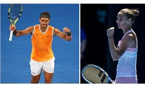 Nadal ve Pliskova, Avustralya Açık'ta 2. tura yükseldi