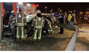 Kadıköy'de 14 yaşındaki sürücü kaza yaptı: Bacağı koptu