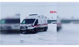 Drift yapan ambulans şoförü görevden alındı