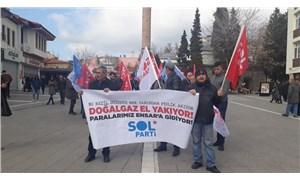 SOL Parti, Uşak'ta Ensar'a aktarılan para için sokağa çıktı