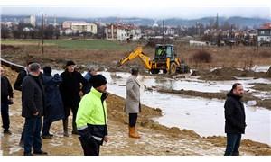 Bolu'da sağanak: Dere taştı, 14 evi su bastı