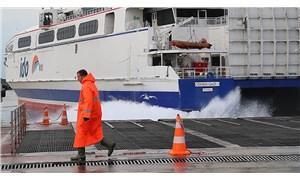 Şiddetli rüzgar nedeniyle İDO'nun bazı seferleri iptal edildi