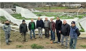 Fırtınadan etkilenen çiftçinin zararı karşılanmadı