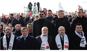 Kılıçdaroğlu ile Davutoğlu, Saadet Partisi'nin mitinginde buluştu