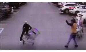Alışveriş sepeti hamlesiyle hırsızı yakalattı