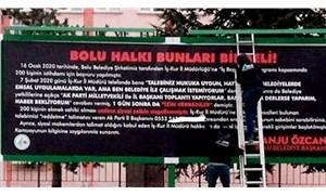 CHP'li Bolu Belediyesi Başkanı AKP İl Başkanı'nın numarasını afişle tüm kente duyurdu