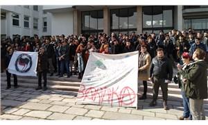 ODTÜ öğrencileri rektörlük önünde toplandı: TGB'lileri ODTÜ'de barındırmayacağız