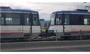 İstanbul'da tramvay hattında arıza