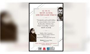 Metin Altıok Şiir Ödülü Töreni ertelendi