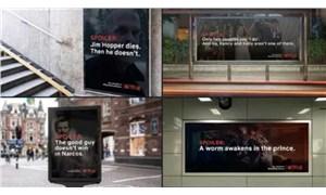 Netflix, #EvdeKal çağrısına uymayanlara 'Spoiler Bilboard' hazırladı