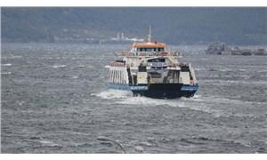 Bozcaada'ya tüm feribot seferleri iptal edildi