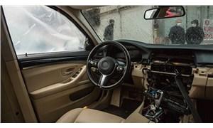 Lüks otomobilin elektronik aksamını tek bir parmak izi bırakmadan çaldılar