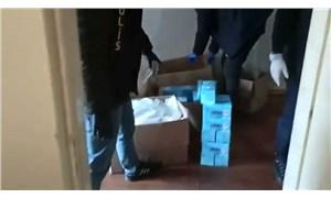 Ümraniye'de kaçak maske imalathanesine baskın: 4 bin 400 adet maske ele geçirildi