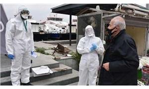İzmir'de sokakta koronavirüs testi