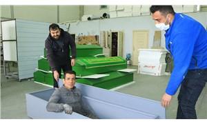 Sivas'ta Covid-19'a özel üretilen antibakteriyel tabutlar 16 ülkeye ihraç ediliyor
