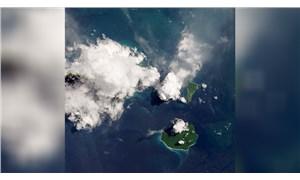Harekete geçen Krakatoa Yanardağı uzaydan görüntülendi