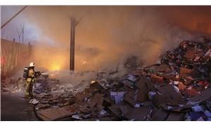 İstanbul'da geri dönüşüm merkezinde yangın