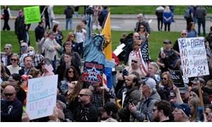ABD'de 'Evde kal' çağrısına tepki gösterenler sokaklara çıktı