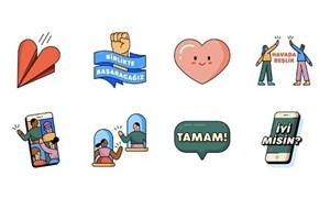 WhatsApp, 'Evde Hep Birlikte' adlı çıkartma setini yayınladı