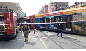 Sultangazi'de tramvayla İETT otobüsü çarpıştı