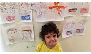 Öykü Arin, tüm dünya çocuklarının resmini çizdi