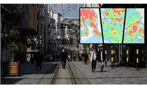 Türkiye'nin üç büyük kentinin koronavirüs yoğunluğu: İşte haritalar