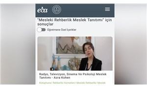 MEB, Azra Kohen'e psikoloji alanında meslek tanıtımı yaptırdı