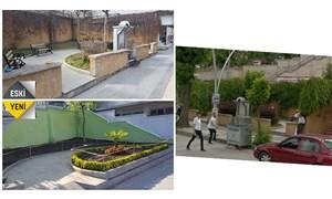 Tokat'ta peyzaj düzenlemesi adına yemyeşil parkı AVM'ye çevirdiler
