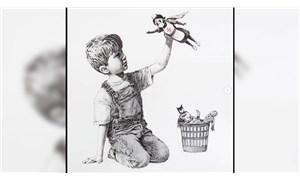 Banksy İngiltere'de bir hastaneye resim hediye etti: Yaptıklarınız için hepinize teşekkür ederim