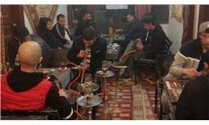 Nargile kafede yakalanan 18 kişiye ceza yağdı