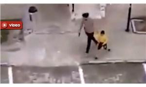 Mardin'den skandal görüntüler: Polis bahçeye çıkan çocukları silahla kovaladı