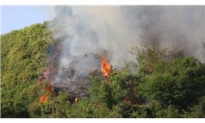 Rize'de yol olmadığı için müdahale edilemeyen yangın, 6 saat sonra söndürüldü