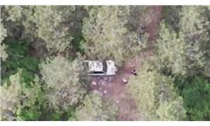 Yasağı ihlal edip piknik yapanlar drone'a 'takıldı'