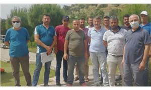 Milas'ta nakliyat işçileri direniş başlattı