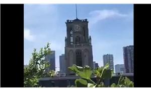 """Hollanda'da Laurenskerk kilisesi, çanlarıyla Aşık Veysel'den """"Uzun İnce Bir Yoldayım"""" türküsünü çaldı"""