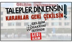 Gelişim Üniversitesi öğrencileri haklarını istiyor